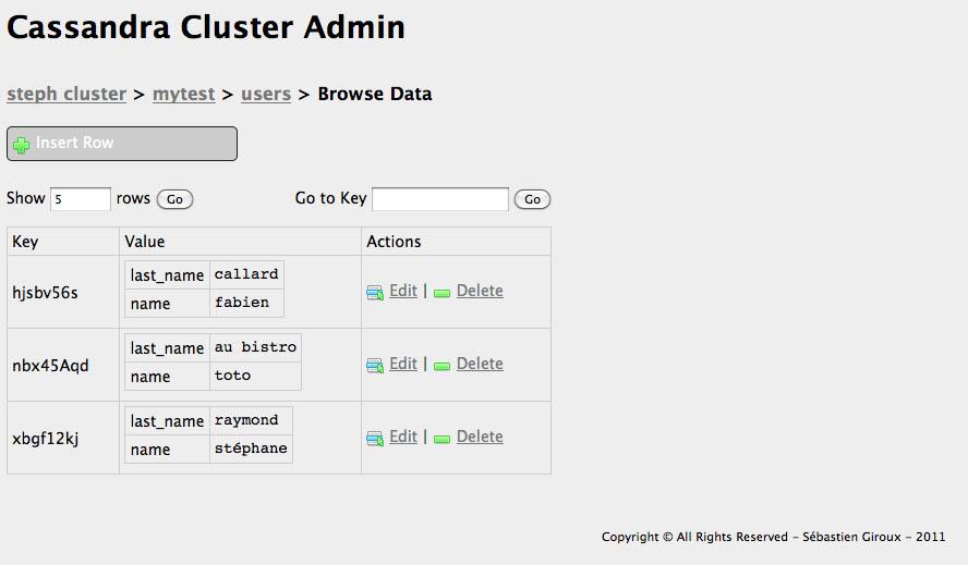 cassandra cluster admin
