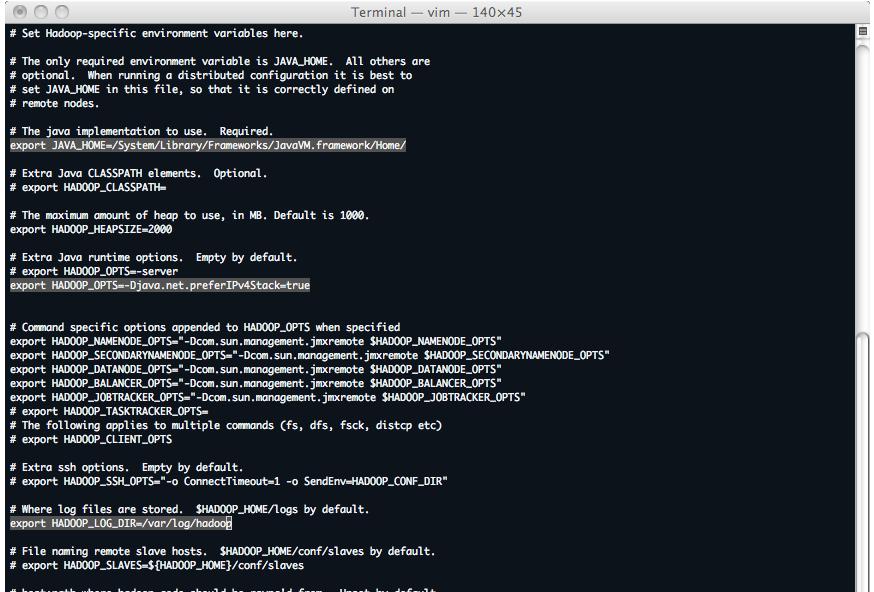 Hadoop : fichier de configuration