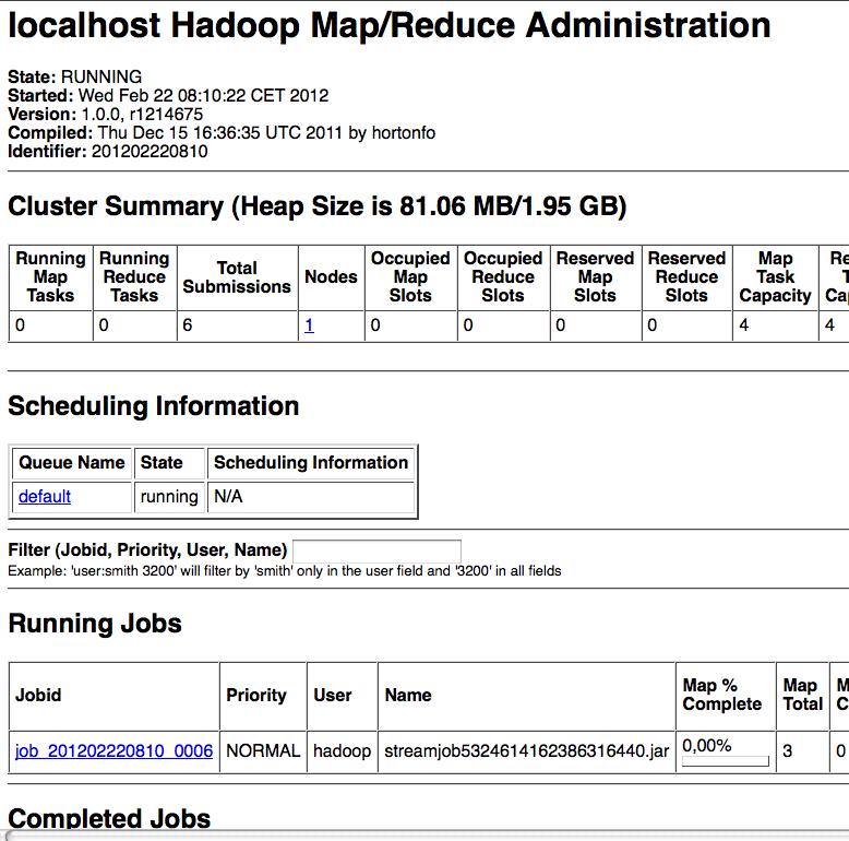 Gestion UI Hadoop
